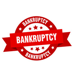 bankruptcy ribbon bankruptcy round red sign vector image