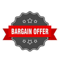 bargain offer label offer isolated seal vector image