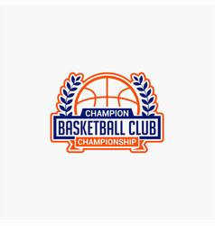 Basketball club badge logo-9 vector
