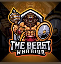 Beast warrior esport mascot logo design vector