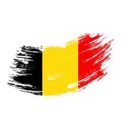 belgian flag grunge brush background vector image