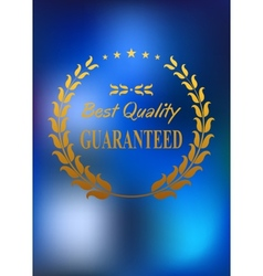 Best quality product label or emblem vector image