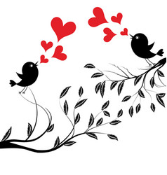 Bird with love of a birds vector