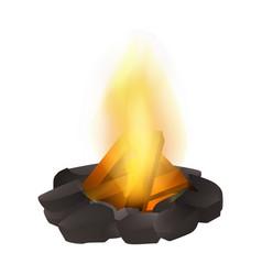 Bonfire icon realistic style vector