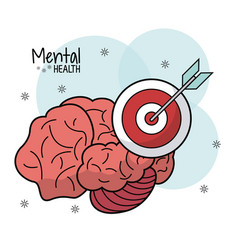 brain mental health target innovation vector image