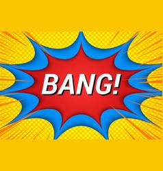 burst bright comic template vector image