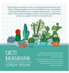 cacti background vector image