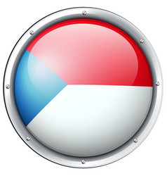 chile flag design on round badge vector image