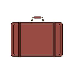 Color image cartoon travel briefcase with handle vector