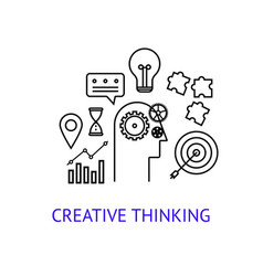 creative thinking concept vector image