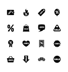 discount tags - flat icons vector image