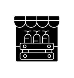 farmers market black glyph icon vector image