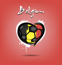 flag of belgium in the form of a heart vector image