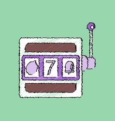 Flat shading style icon casino slot machine vector