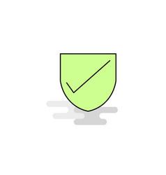 Flat sheild icon vector