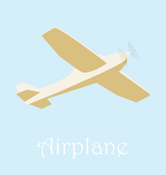 flying airplane trip airplane isolated on vector image