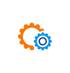gear work mechanism logo vector image
