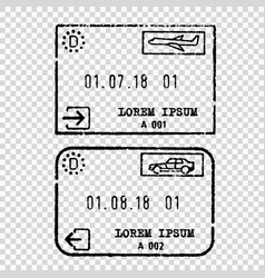 germany tourist visa stamp vector image