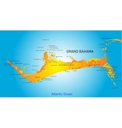 Grand Bahama vector image