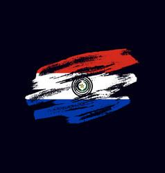grunge textured paraguayan flag vector image