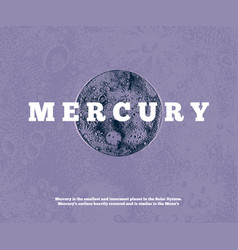 hand drawn mercury planet vector image