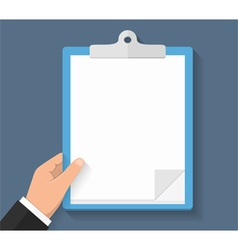 Hand with Clipboard vector