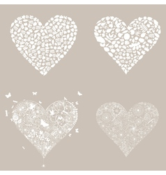 Heart design an element3 vector image