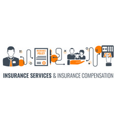 insurance services process infographics vector image