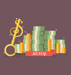 key to money vector image