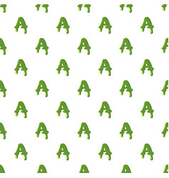 Letter a made of green slime vector
