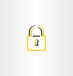 Lock symbol stylized logo vector