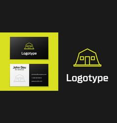 Logotype line military barracks station icon vector