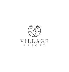 Luxury minimalist design for hotel and resort vector