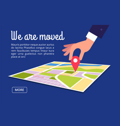 Moving concept changing address new location on vector