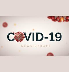 News update header banner for covid-19 on light vector