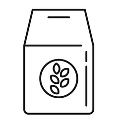 Oatmeal bran icon outline style vector