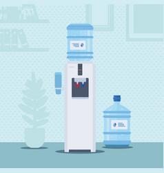 Office water cooler flat vector