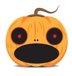 Orange halloween pumpkin vector