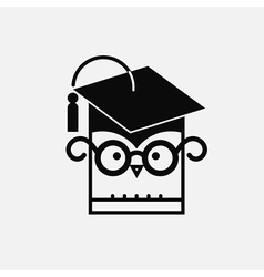 Owl With Graduating Hat vector image