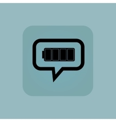 Pale blue full battery message vector