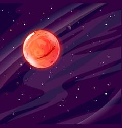 Planet mars in space vector