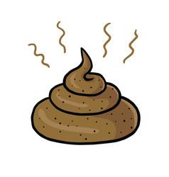 poop cartoon drawing vector image