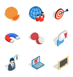 Purchasing icons set isometric style vector