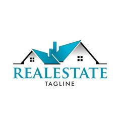 Real estate modern home design logo template vector