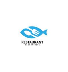 Restaurant seafood logo design icon vector