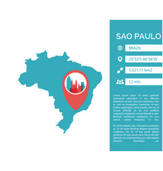 Sao paulo map infographic vector