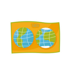 school world map on a white vector image
