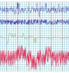 screen recording polygraph vector image