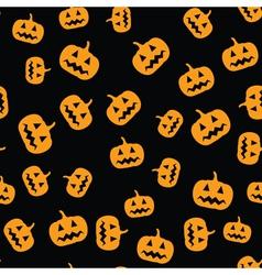 seamless pumpkins pattern vector image