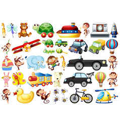 set children toys vector image